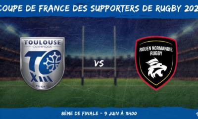 Coupe de France des supporters de rugby 2021 - 8ème de finale Toulouse Olympique XIII – Rouen Normandie