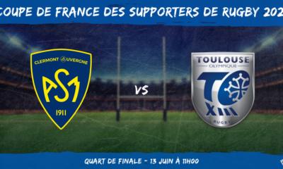 Coupe de France des supporters de rugby 2021 - Quart de finale ASM Clermont - Toulouse Olympique XIII