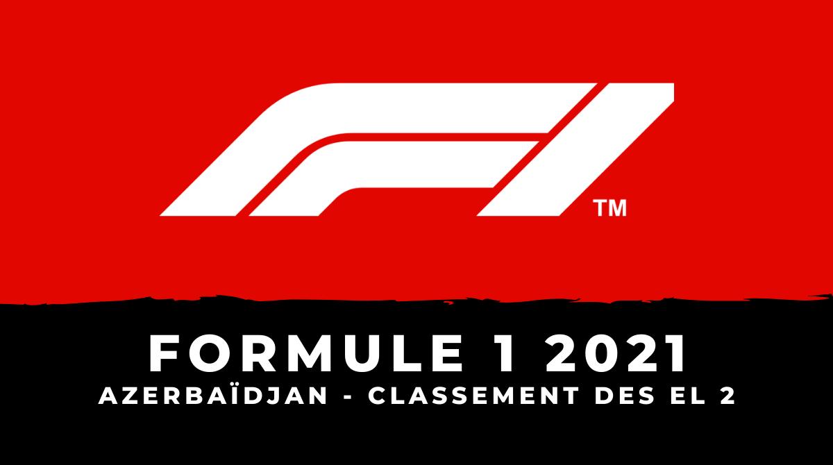 F1 - Grand Prix d'Azerbaïdjan : le classement des essais libres 2