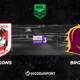 Pronostic St. George Illawarra Dragons - Brisbane Broncos, 13ème journée de NRL