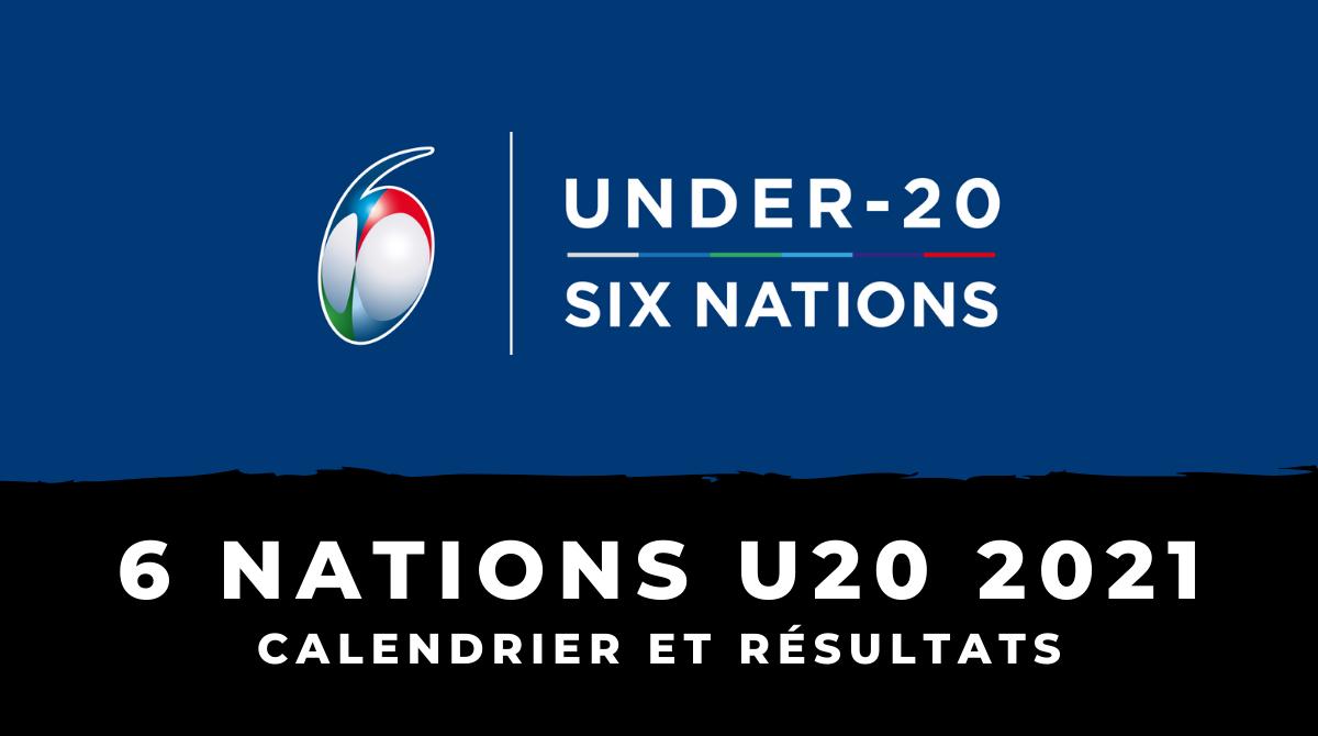 Tournoi des 6 Nations U20 2021 - Calendrier et résultats