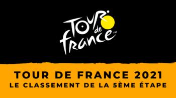 Tour de France 2021 – Le classement du contre-la-montre de la 5ème étape