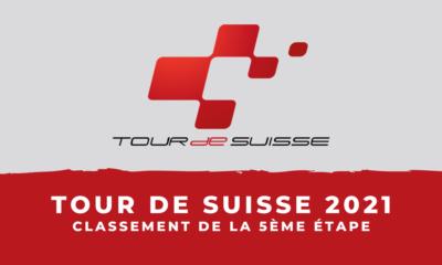 Tour de Suisse 2021 : le classement de la 5ème étape