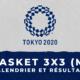Basket 3X3 masculin - Jeux Olympiques de Tokyo calendrier et résultats