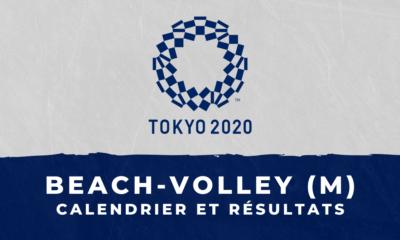 Beach-volley masculin - Jeux Olympiques de Tokyo calendrier et résultats