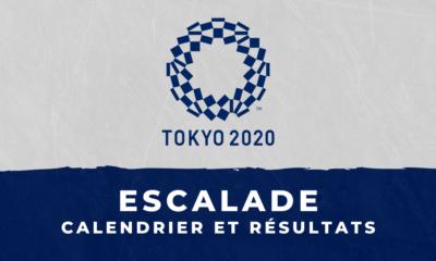 Escalade - Jeux Olympiques de Tokyo calendrier et résultats