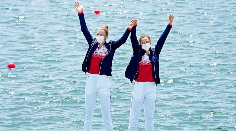 Jeux - JO Tokyo 2020 - Aviron Bové et Tarantola en argent sur le deux de couple poids léger