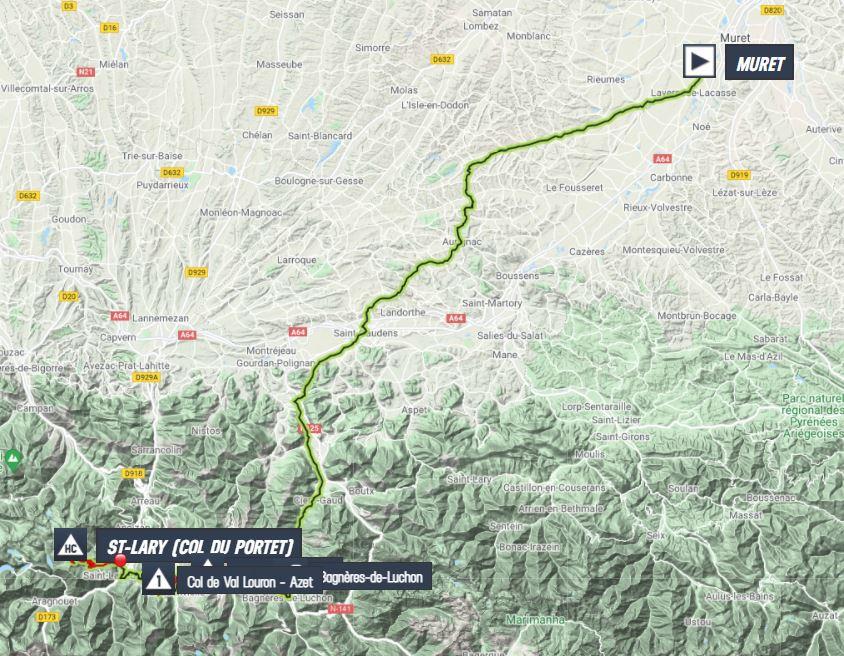 La carte du parcours de la 17ème étape du Tour de France 2021