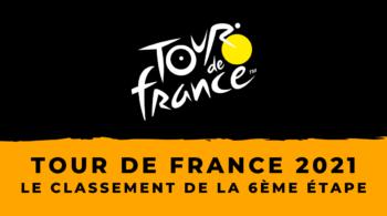 Tour de France 2021 – Le classement de la 6ème étape