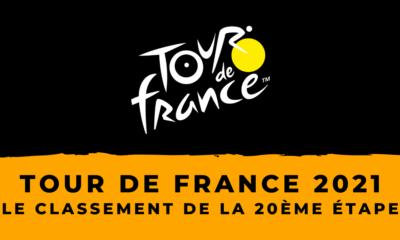 Tour de France 2021 : le classement du contre-la-montre de la 20ème étape