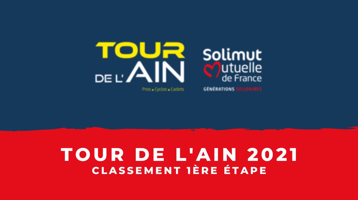 Tour de l'Ain 2021 - classement de la 1ère étape