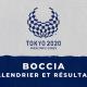 Boccia - Jeux Paralympiques de Tokyo calendrier et résultats