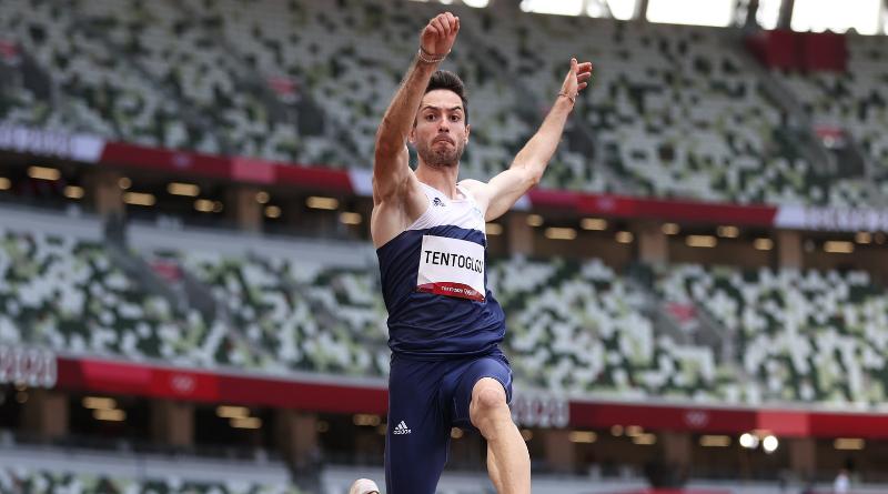 JO Tokyo 2020 - Athlétisme Miltiadis Tentoglou en or au saut en longueur