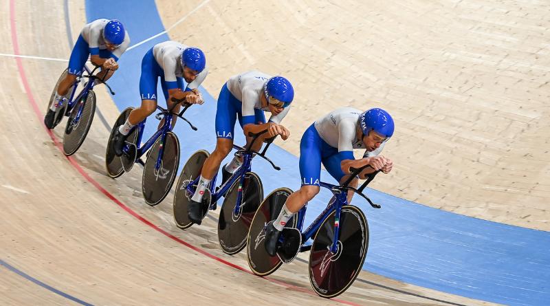 JO Tokyo 2020 - Cyclisme sur piste L'Italie de Ganna en or sur la poursuite par équipe