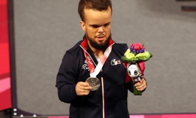 Jeux Paralympiques de Tokyo - Haltérophilie Axel Bourlon en argent en - de 54 kg
