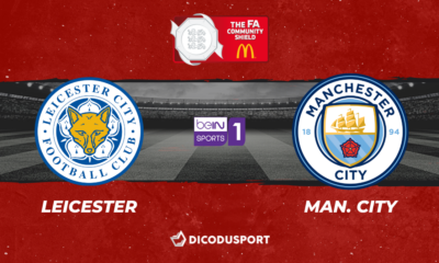 Pronostic Leicester - Manchester City, Community Shield