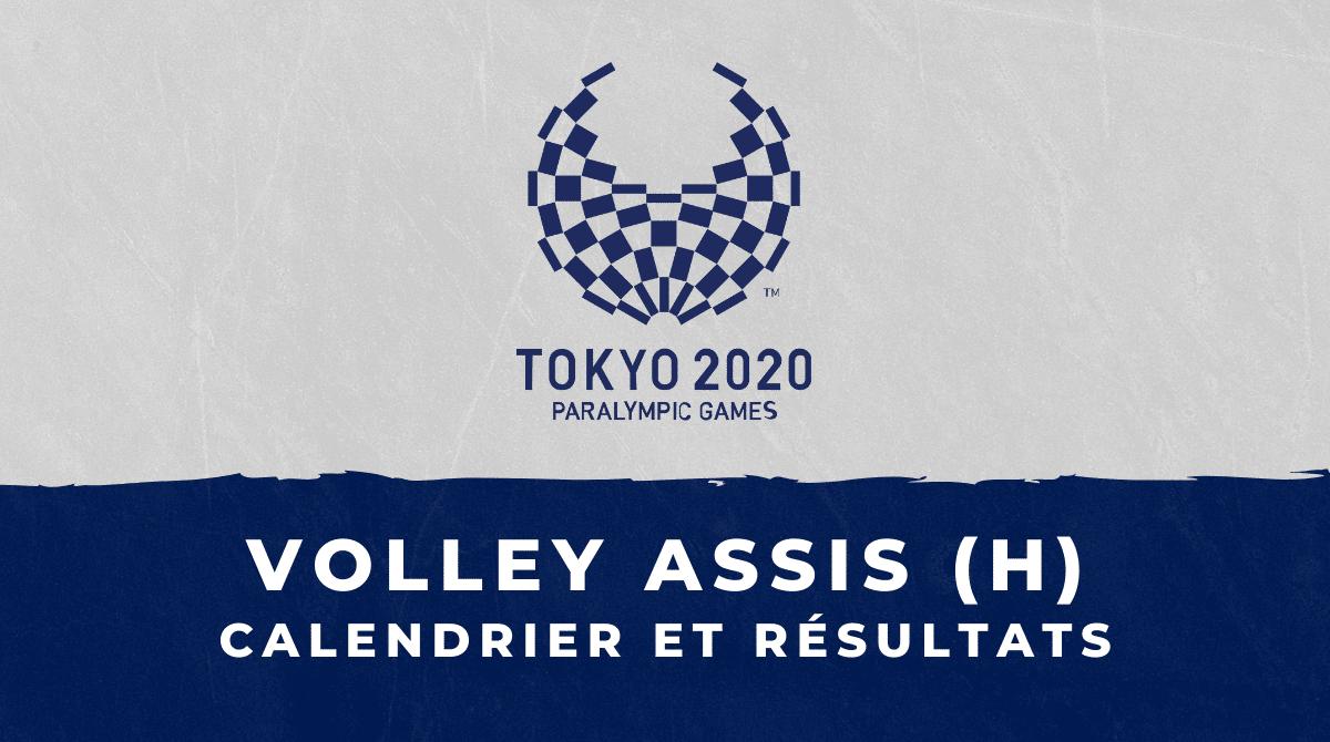 Volley assis masculin - Jeux Paralympiques de Tokyo calendrier et résultats