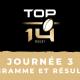 Calendrier Top 14 2021-2022 - 3ème journée Programme TV et résultats