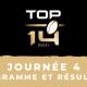 Calendrier Top 14 2021/2022 - 4ème journée : Programme TV et résultats