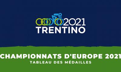 Championnats d'Europe de cyclisme sur route 2021 : le tableau des médailles