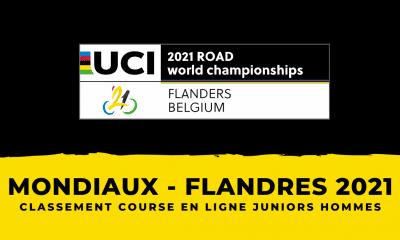 Championnats du monde 2021 le classement de la course en ligne juniors hommes