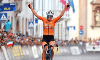 Cyclisme - Trente 2001 Ellen van Dijk sacrée championne d'Europe sur la course en ligne