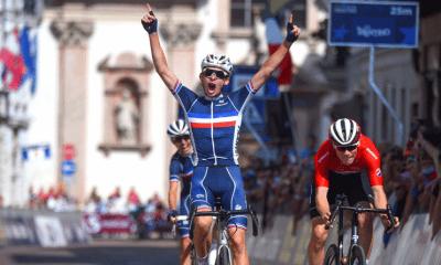 Cyclisme - Trente 2021 Romain Grégoire champion d'Europe juniors sur la course en ligne