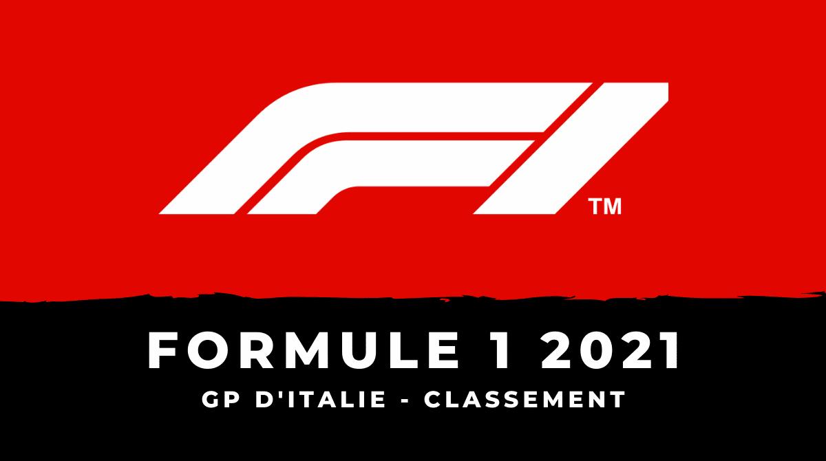 F1 : Le classement du Grand Prix d'Italie 2021