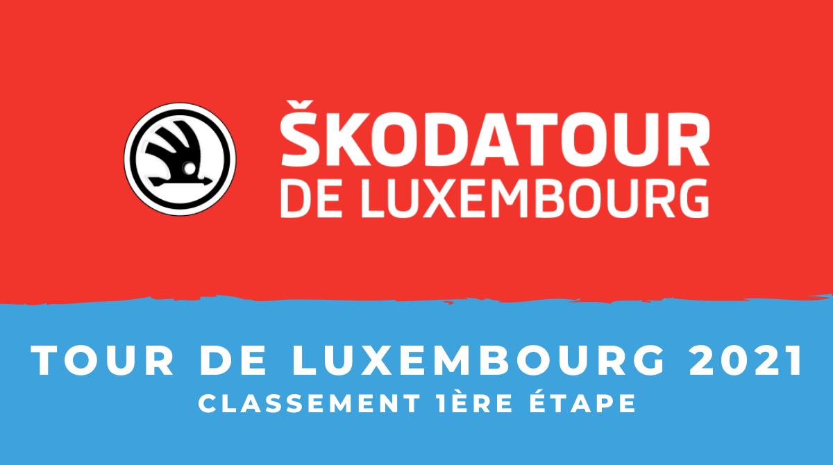 Tour de Luxembourg 2021 le classement de la 1ère étape