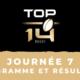 Calendrier Top 14 2021/2022 - 7ème journée : Programme TV et résultats