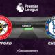 Pronostic Brentford - Chelsea, 8ème journée de Premier League